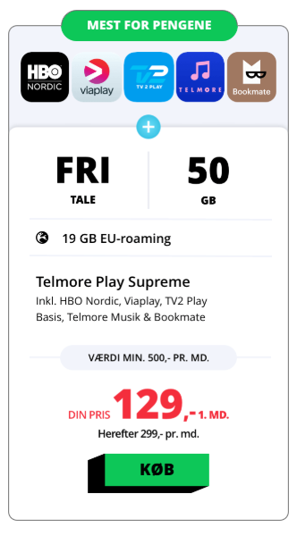 Telmore Play HBO Nordic